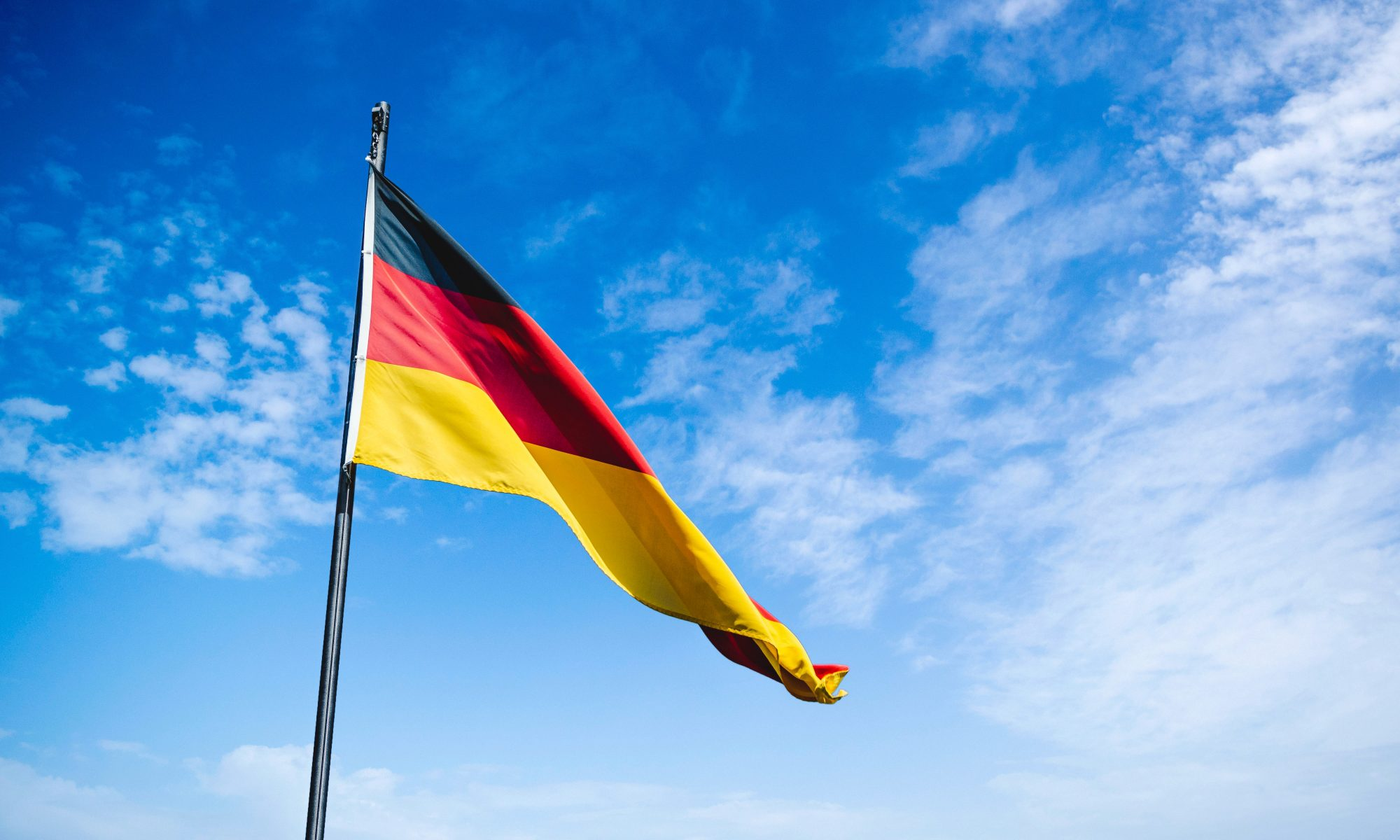 my life in Germany home german flag