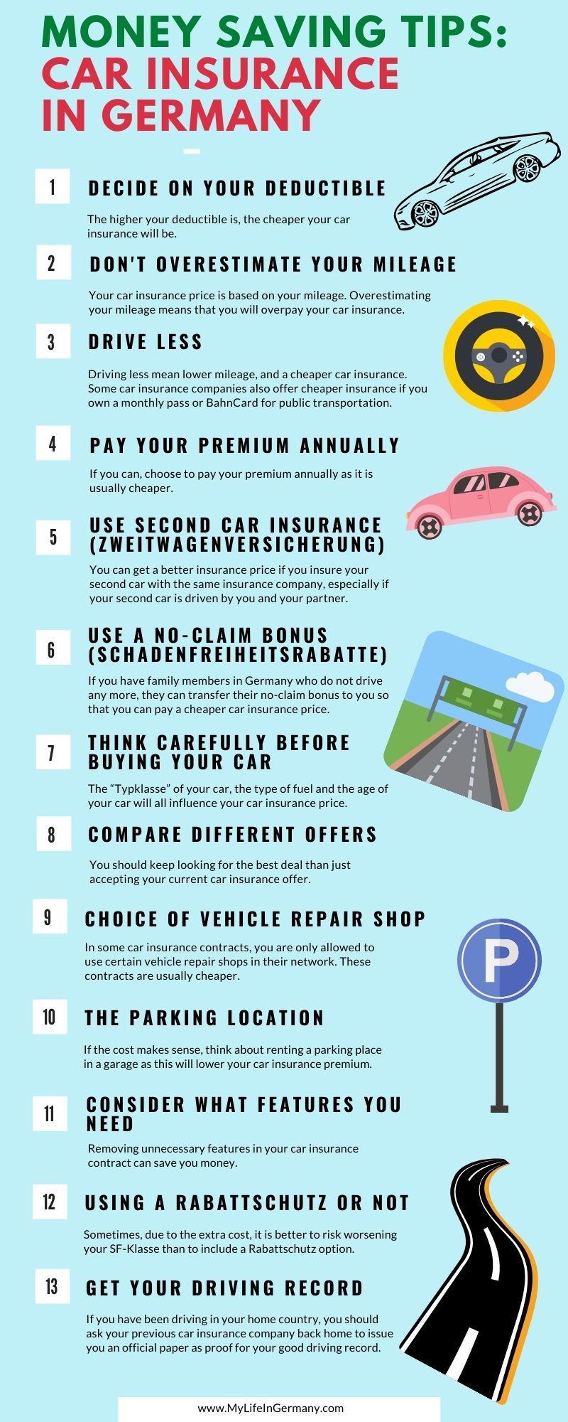 pinterest image edited infographic_car insurance in Germany_13 ways to save money_my life in germany_hkwomanabroad